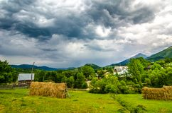 Rural landscape in Maramures Royalty Free Stock Photo