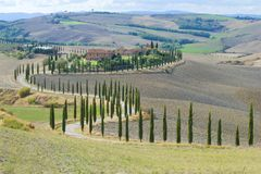 Rural landscape of modern Tuscany, Italy Stock Photos