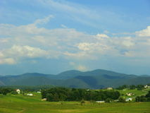 Rural landscape mountain range Stock Photography