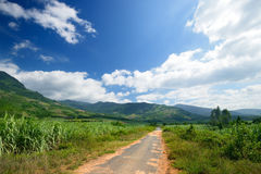 Rural landscape in the mountains of Central Vietnam Royalty Free Stock Image