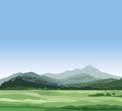 Rural landscape with mountains. Countryside skyline Royalty Free Stock Photos