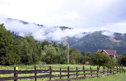 Rural landscape in the mountains - RAW format royalty free stock images