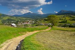 Rural landscape in the mountains Stock Photo