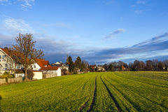 Rural landscape in Munich with new Stock Photography