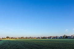 Rural landscape in Munich with new settlement Royalty Free Stock Photography