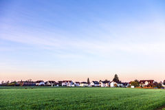 Rural landscape in Munich with new settlement Royalty Free Stock Photo
