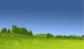 Rural landscape. Nature background with rural landscape Royalty Free Stock Photos