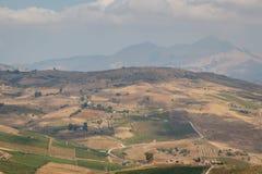 Rural landscape near Segesta, Sicily Stock Photos