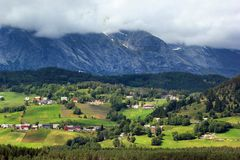 Rural landscape near Voss, Hordaland county, Norway.  royalty free stock photos