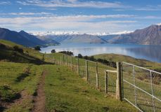Rural landscape of New Zealand royalty free stock photos
