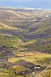 Rural landscape in the North of Lanzarote with terrace cultivation Royalty Free Stock Photo