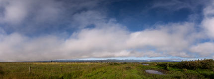 Rural Landscape in Northern California. Panoramic Color Image, USA Stock Images