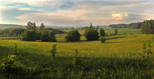 Rural landscape. Panorama. Royalty Free Stock Photos
