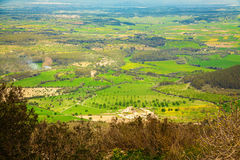 Rural landscape from Puig de Randa Royalty Free Stock Photo