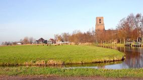 Rural landscape in Ransdorp, Holland stock video footage