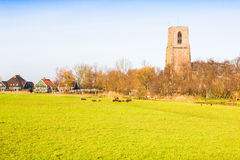 Rural landscape in Ransdorp, The Netherlands Royalty Free Stock Photography
