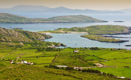 Rural landscape from ring kerry ireland stock images