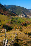 Rural landscape in Romania. Rural landscape with Pestera village, in Brasov county (Romania Stock Photography