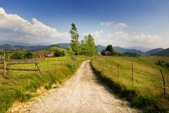 Rural landscape from Romania stock photo
