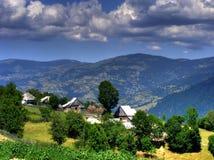 Rural landscape in Romania Stock Photo