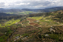 Rural landscape from Ronda old town, Andalusia, Spain Stock Images
