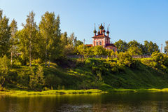 Rural landscape. Russia. Rural landscape. Russian village in Kostroma Stock Photography