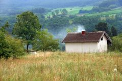 Rural landscape Serbia Stock Images