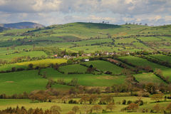 A Rural Landscape in Shropshire, England Stock Photos
