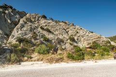 Rural landscape of Sithonia peninsula, Chalkidiki, Central Macedonia, Greece. Amazing rural landscape of Sithonia peninsula, Chalkidiki, Central Macedonia stock photo