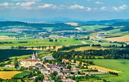 Rural landscape of Slovakia at Spis Castle royalty free stock photo