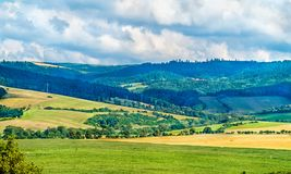 Rural landscape of Slovakia at Spis Castle royalty free stock images