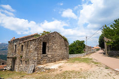 Rural landscape of South Corsica, old house Stock Image