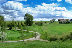 Rural landscape in spring Stock Photography
