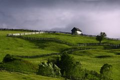 Rural landscape. After a summer rain Royalty Free Stock Photography