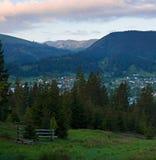 Rural landscape at sunrise Royalty Free Stock Photo
