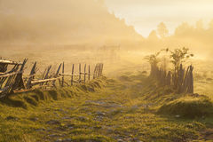 Rural landscape sunrise Royalty Free Stock Photos