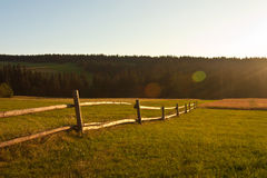 Rural landscape on sunset Royalty Free Stock Photos