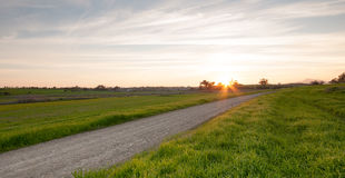 Rural Landscape during sunset Royalty Free Stock Photo