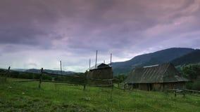 Rural landscape at sunset timelapse stock video