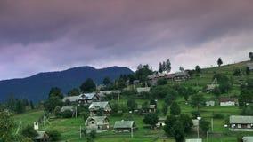 Rural landscape at sunset timelapse stock video footage