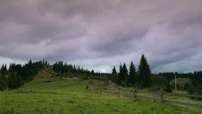 Rural landscape at sunset timelapse stock footage