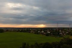 Rural landscape at sunset Stock Photo