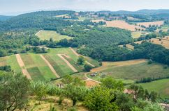 Rural landscape surrounding Amelia, town in the province of Terni, Umbria, Italy. Amelia is a town and comune of the province of Terni, in the Umbria region of royalty free stock image