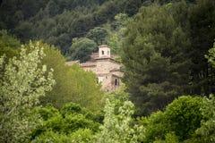 Suso Monastery, San Millan de la Cogolla, La Rioja, Spain. Rural landscape of the Suso monastery from the roads of San Millán de la Cogolla, La Rioja, Spain royalty free stock photography