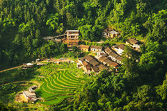 Rural landscape of terraces. In China royalty free stock photography