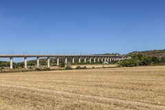 Rural landscape with toll highway and bridge in the Provence, Fr Royalty Free Stock Images