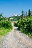 Rural landscape in Transylvania, Rupea Stock Photos