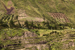 Rural Landscape in Tungurahua Province, Ecuador Stock Photo