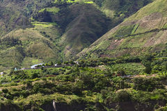 Rural Landscape in Tungurahua Province, Ecuador Stock Photography