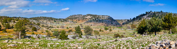 Rural landscape in Turkey Royalty Free Stock Photos